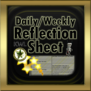 Weekly Reflection Form, Pre- and Post-Lesson