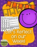 Weekly Reflection Printable - A Classroom Management Tool
