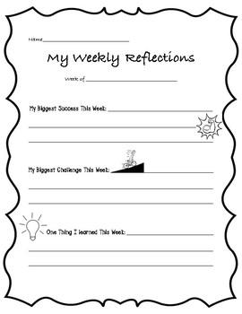 Weekly Reflection Sheet