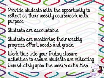 Weekly Reflection Worksheet