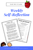 Weekly Reflection (weekly student self reflection)