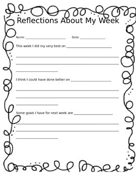 Weekly Reflections