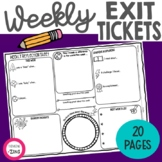 Weekly Reflections Exit Ticket Pages
