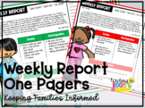 Weekly Report One Pagers (Distance Learning)