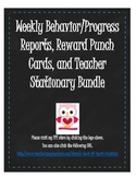 Weekly Reports, Reward Punch Cards, Teacher Notes Bundle