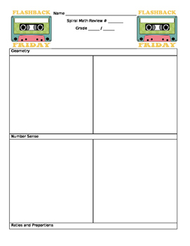 Weekly Review Template 7th Grade Math