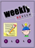 Weekly Review Worksheets for 3rd & 4th Grades