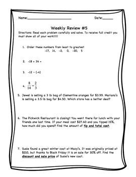 Weekly Reviews 4 - 6