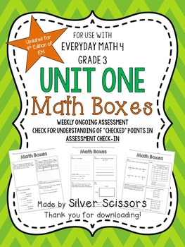 Weekly Reviews Unit One Everyday Math, 3rd Grade