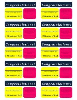 Weekly Reward Cards