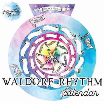 Weekly Rhythm Calendar, Waldorf Calendar