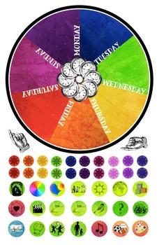 Weekly Rhythm Wheel - Waldorf-Inspired Weekly Calendar - R