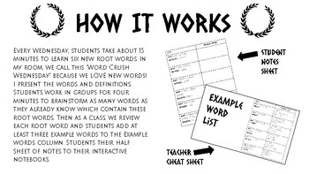 Weekly Root Word Study