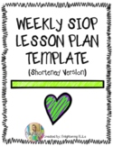 Weekly SIOP Lesson Plan Template (Shortened Version)