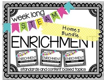 Weekly STEAM Enrichment {Homes Bundle Pack}