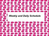 Weekly Schedule 15 min intervals