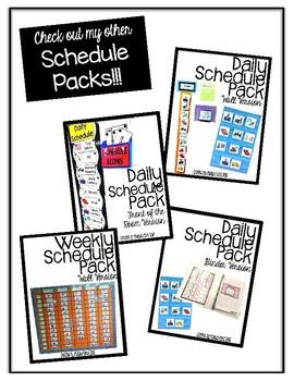 Weekly Schedule- Bulletin Board Set for Autism Program