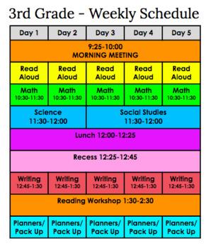Weekly Schedule-- Editable