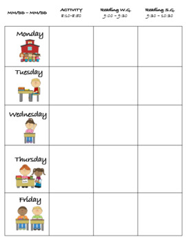Weekly Schedule Lesson Planner (EDITABLE)