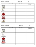 Weekly Schedule/Planner