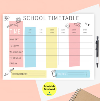 photograph about Printable Hourly Planner known as Weekly Agenda Printable, Hourly Planner, Weekly Organiser