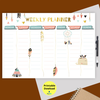 photo relating to Hourly Planner Printable named Weekly Plan Printable, Hourly Planner, Weekly Organiser