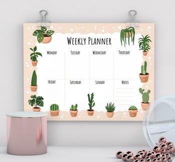 Weekly Schedule Printable, Hourly Planner, Weekly Organiser