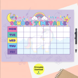 Weekly Schedule Printable, Hourly Planner, Weekly Organiser, back to school
