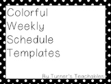 Colorful Weekly Schedule Template (EDITABLE!)