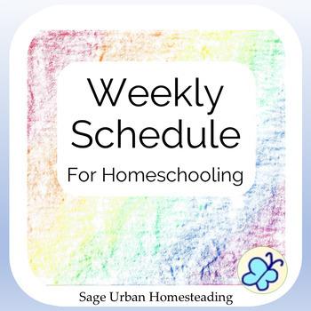 Weekly Schedule for Homeschooling