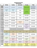 Weekly Schedule to personalize Guidance Classes Counselor Sessions