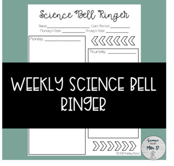 Weekly Science Bell Ringer