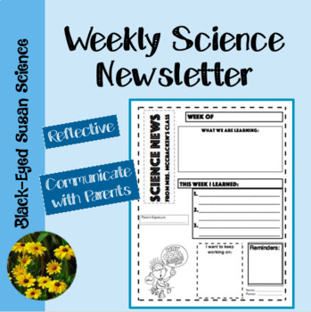Weekly Science Newsletter by Black Eyed Susan Science | TpT