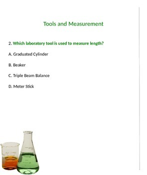 Weekly Science Quizzes:Tools, Measurement and Variables