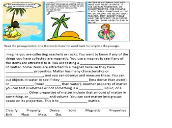 Weekly Science Vocabulary Matter Part 1