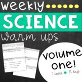 Weekly Science Warm Ups Volume 1