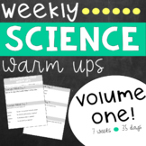 Weekly Science Warm Ups Volume 1