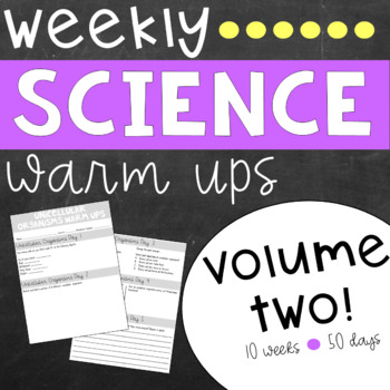 Weekly Science Warm Ups Volume 2