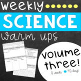 Weekly Science Warm Ups Volume 3