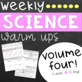 Weekly Science Warm Ups Volume 4