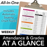 Classroom Seating Chart Attendance, Grade Sheet & Behavior Tracking Template