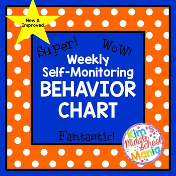Weekly Self Monitoring Behavior Chart