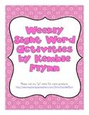 Weekly Sight Word Activities (Canadian Spellings)