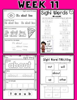 Weekly Sight Word Pack- Week 11