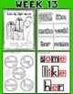 Weekly Sight Word Pack- Week 13