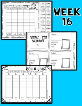 Weekly Sight Word Pack- Week 16