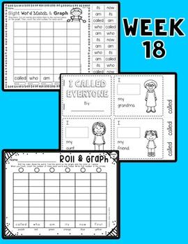 Weekly Sight Word Pack- Week 18
