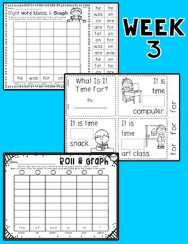 Weekly Sight Word Pack- Week 3