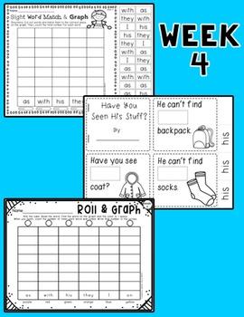 Weekly Sight Word Pack- Week 4