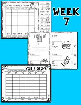 Weekly Sight Word Pack- Week 7